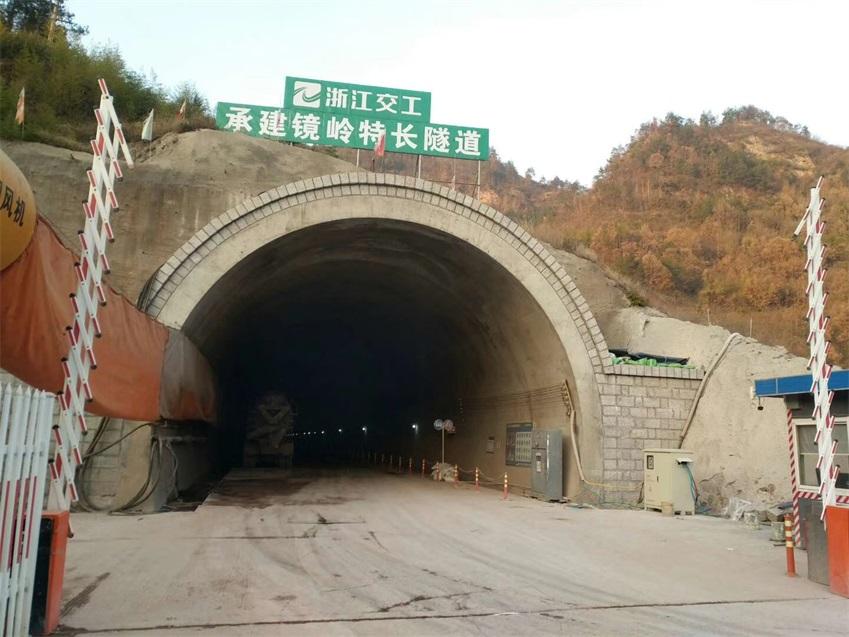 浙江交工承建镜岭隧道出口